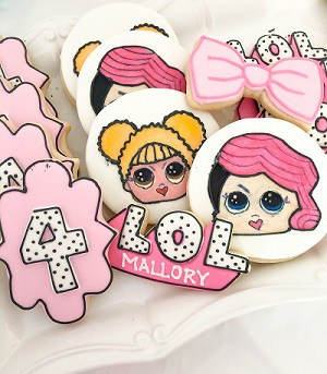 LOL Surprise Birthday Party cookies