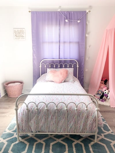 Metal Frame Twin bed for Girls