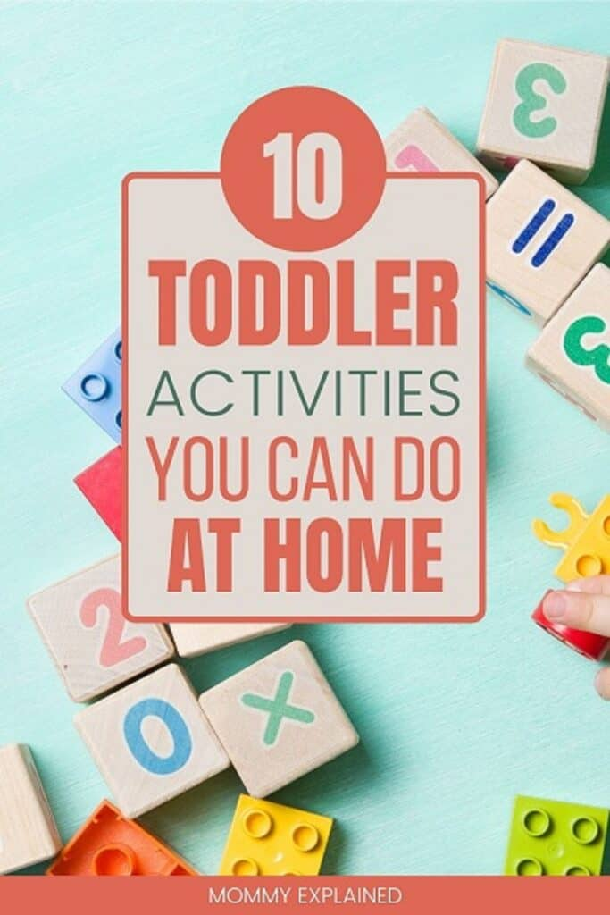 10 Toddler Activities you can do at home