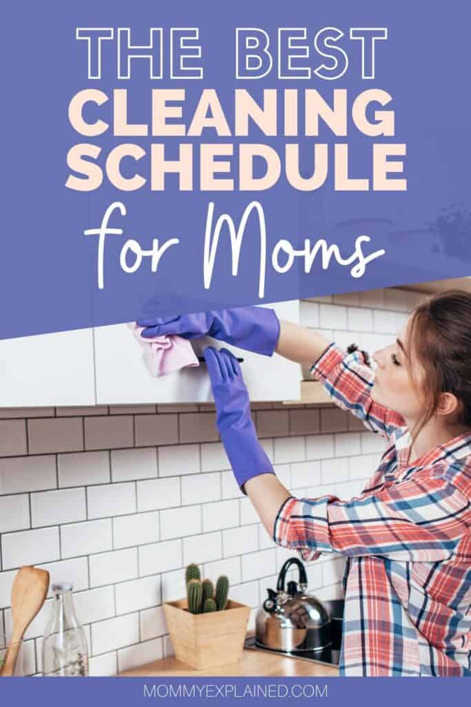 Simple cleaning schedule