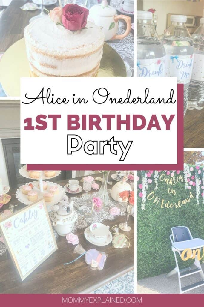 Alice in Onederland 1st Birthday Party
