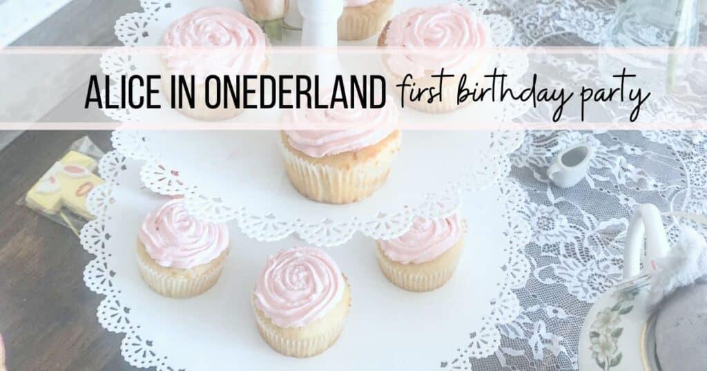 Alice in Wonderland First Birthday