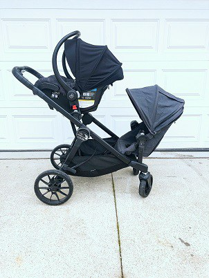 City Select Lux with car seat and toddler seat